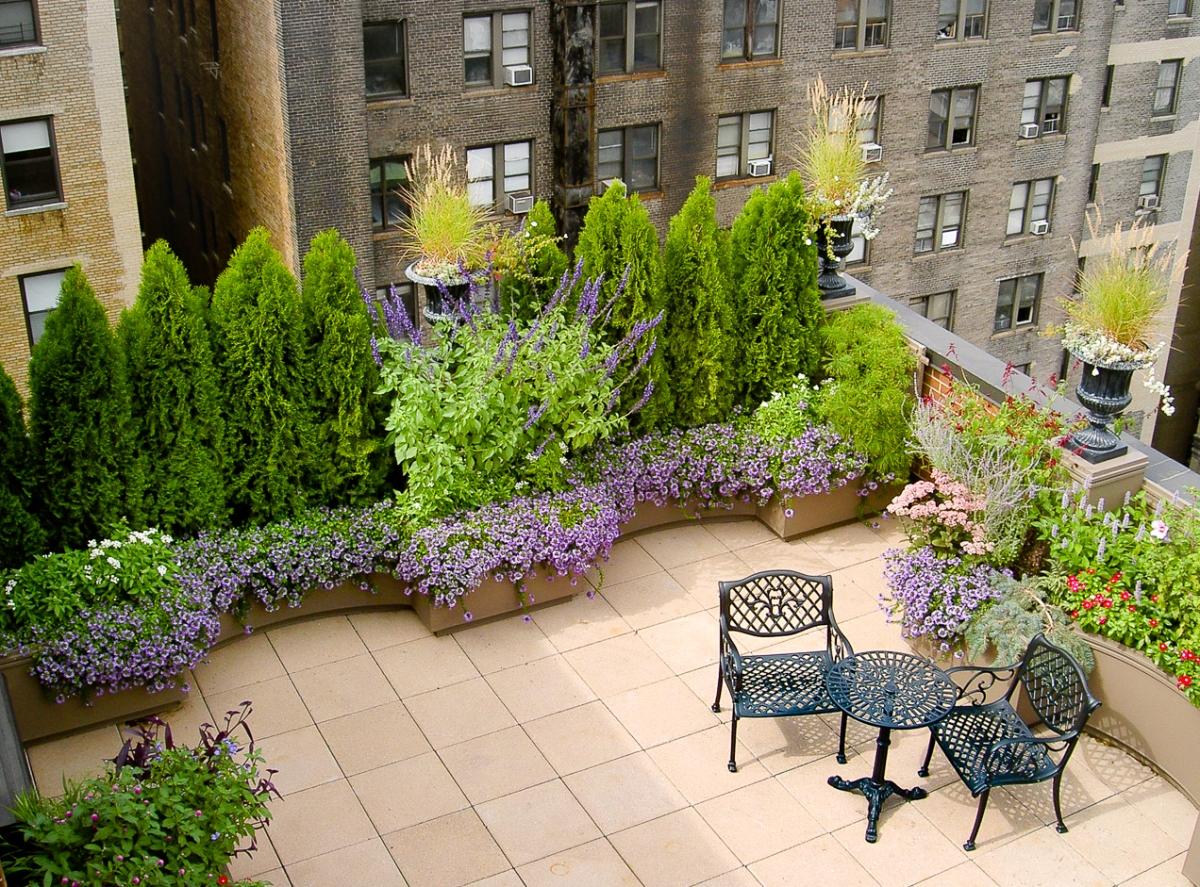 Upper West Side Roof Terrace Gresham Lang Garden Design Llc
